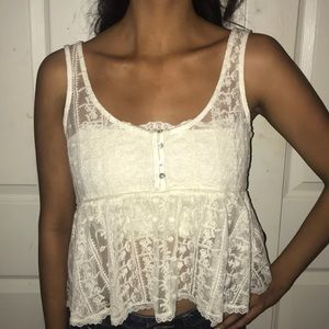 Tops - Lace blouse and bandeau